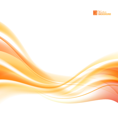 Illustration pour Abstract orange wind. Abstract smooth background lines for your text. Vector illustration, contains transparencies, gradients and effects. - image libre de droit