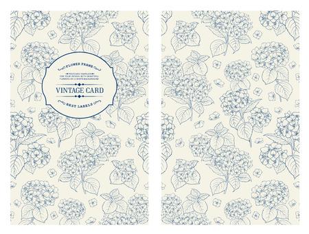 Illustration pour Vintage label card. Invitation card template for your holiday. - image libre de droit