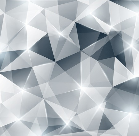 Illustration for Lights, sparkles. Vector illustration. Abstract polygonal backdrop. Beautiful geometric design for business presentations. Festive background for Christmas or New Year design. - Royalty Free Image