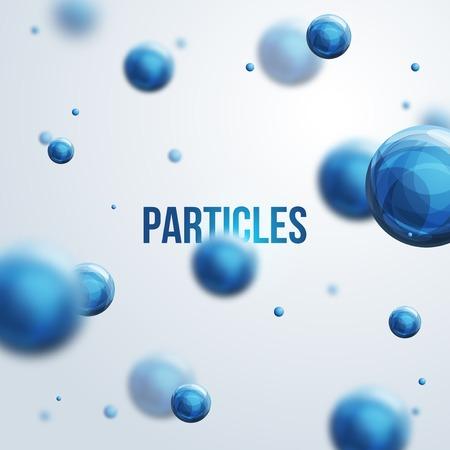 Illustration pour Vector illustration. Atoms.  Medical background for banner or flyer. - image libre de droit