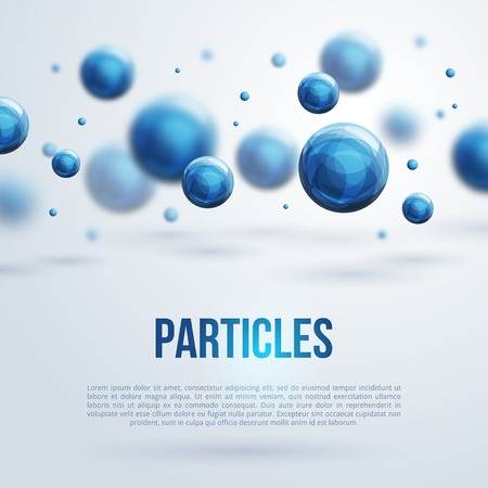 Illustration pour Vector illustration. Atoms. Medical background for banner or flyer. - image libre de droit