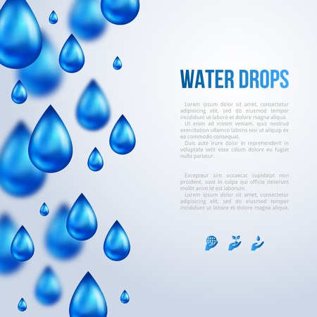 Illustration pour Water Drops. Vector illustration. Rainy day. Blurred rain. - image libre de droit