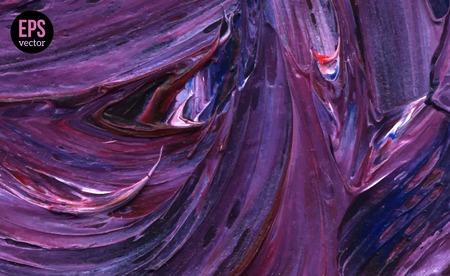 Illustration pour Paint Texture. Vector illustration. Violet grunge template.  Oil Paint Brush strokes. - image libre de droit