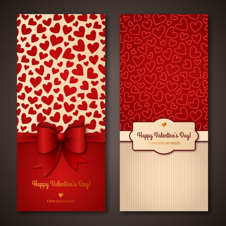 Illustration pour Happy Valentine\\\'s Day greeting cards. - image libre de droit