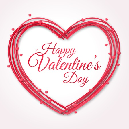 Illustration pour Happy Valentines Day Greeting Card.  - image libre de droit