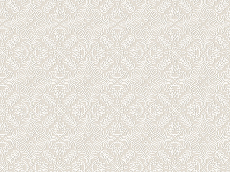 Illustration for Lace vintage floral vector seamless pattern, tiling. Endless texture for printing onto fabric and wrapping paper or scrap booking. Geometric pattern for wedding design. - Royalty Free Image