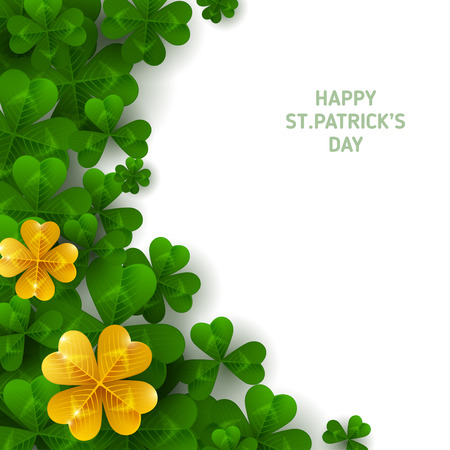 Illustration pour St. Patrick's day vertical border. - image libre de droit