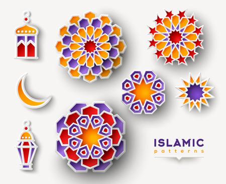 Illustration for Set of Islamic geometric patterns - Royalty Free Image