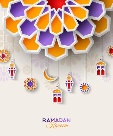 Illustration for Ramadan Kareem concept banner - Royalty Free Image