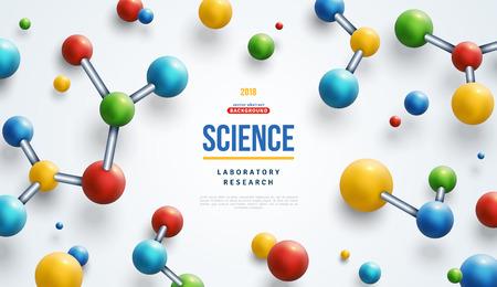 Illustration pour Colorful 3d molecules - image libre de droit