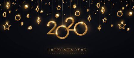 Ilustración de 2020 New year gold numbers - Imagen libre de derechos