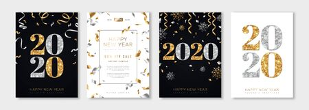 Ilustración de 2020 New Year set - Imagen libre de derechos