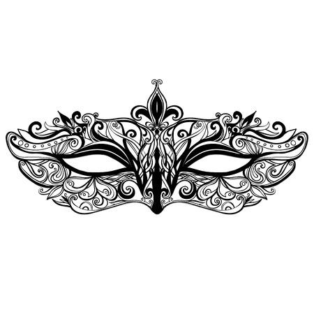 Illustration for mask illustration isolated on white background.  - Royalty Free Image