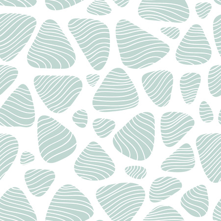 Ilustración de Pebble seamless background. Subtle texture with round shapes and flow lines, repeating fabric print for spring summer fashion season. - Imagen libre de derechos