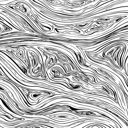 Ilustración de Abstract line background. Vector texture with hand drawn ink wavy strokes - Imagen libre de derechos