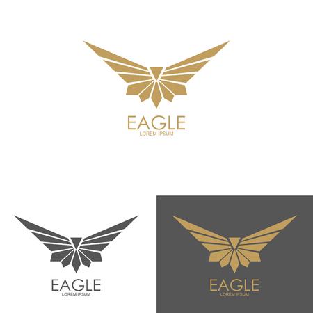 Illustration for eagle mark isolated on white background. Design element for logo, label, emblem, sign - Royalty Free Image