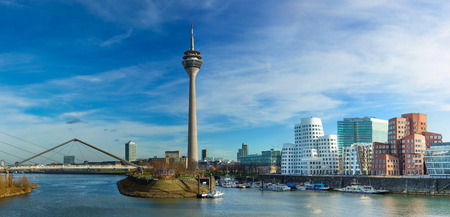 Photo for Dusseldorf cityscape with view on media harbor, Germany - Royalty Free Image
