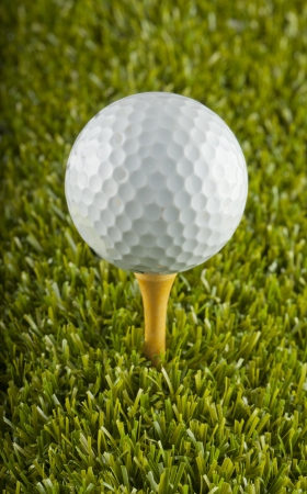 Close up of a white golf bal