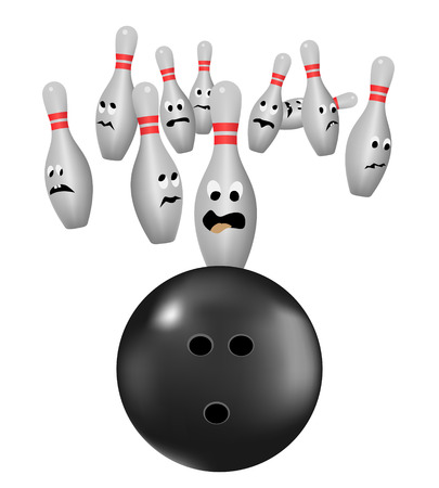 bowling pins scared of bowl