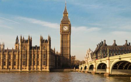 Foto de The Big Ben clock tower in London, UK. - Imagen libre de derechos
