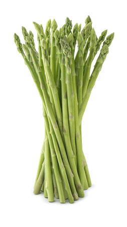 Photo for Fresh asparagus bunch isolated on white background as package design element - Royalty Free Image