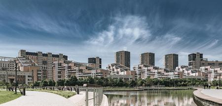 Foto de Modern city district. - Imagen libre de derechos
