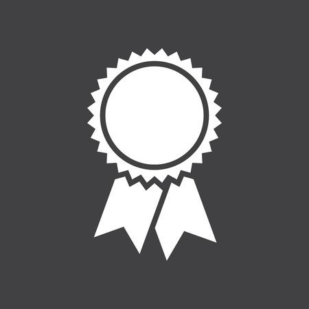 Illustration pour Badge with ribbons icon, vector illustration, simple flat design - image libre de droit
