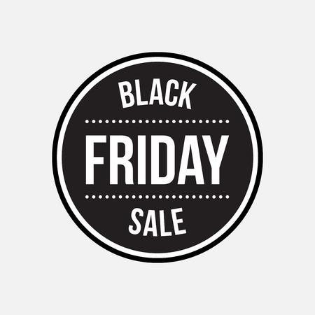 Ilustración de Black friday sale label - Imagen libre de derechos