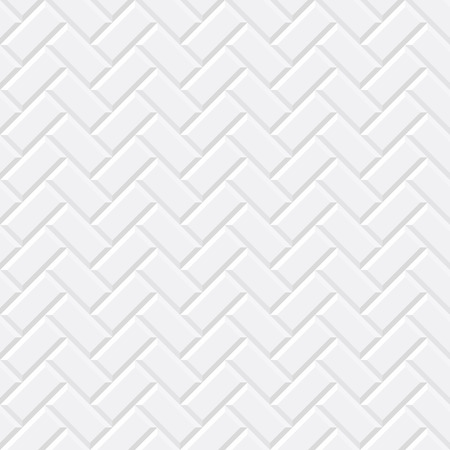 Illustration pour White tiles, ceramic brick. Diagonal seamless pattern. Vector illustration EPS 10 - image libre de droit
