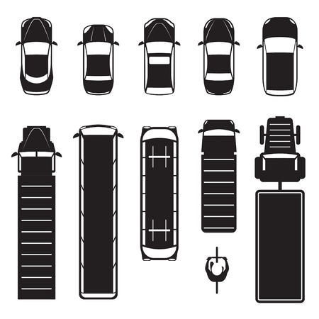 Illustration pour abstract,auto,automobile,background,bike icon,black and white,car,cargo,cars,collection,concept,cute,design,flat,icon,illustration,isolated,military,modern,racing,sedan,set,side,silhouette,style,symbol,tank,top,tramway,transportation,travel,truck,vector,vehicle,view,wheel,white - image libre de droit