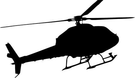 Illustration pour silhouette of a helicopter on white background - image libre de droit