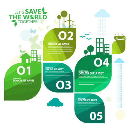 Illustration for green infographic - Royalty Free Image