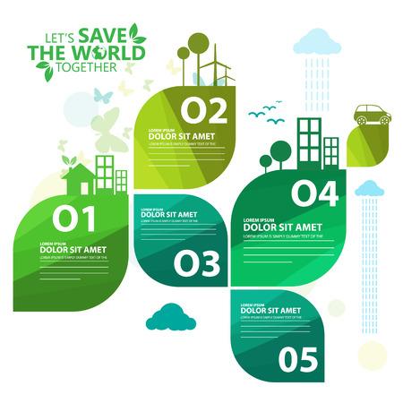 Ilustración de green infographic - Imagen libre de derechos