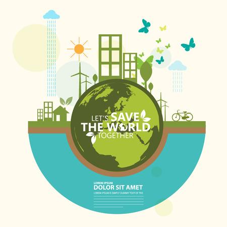 Ilustración de ecology infographic - Imagen libre de derechos