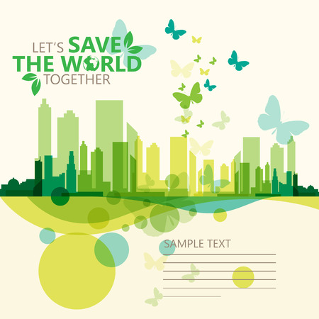 Illustration for save the world - Royalty Free Image