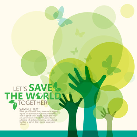 Illustration pour save the world - image libre de droit