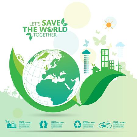 Ilustración de environment infographic - Imagen libre de derechos