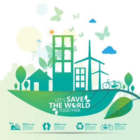 Illustration pour save the world - image libre de droit