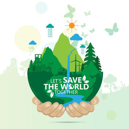 Ilustración de save the world - Imagen libre de derechos