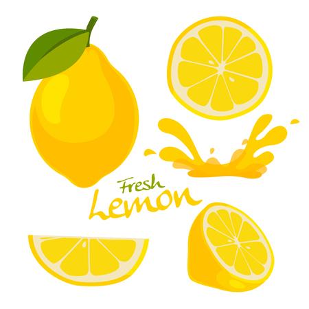 Ilustración de fresh lemon vector - Imagen libre de derechos