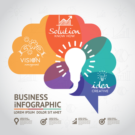 Illustration pour infographics vector brain design - image libre de droit