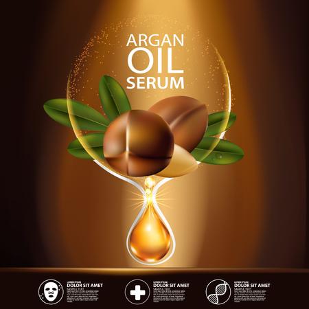 Ilustración de argan oil Serum Skin Care Cosmetic. - Imagen libre de derechos