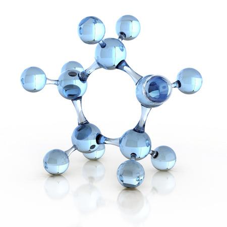Foto de molecule 3d illustration - Imagen libre de derechos