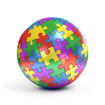 Photo pour colorful spherical puzzle - image libre de droit