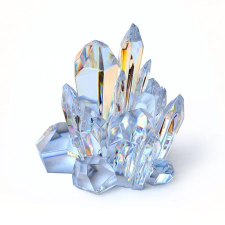 Photo pour crystal 3d illustration - image libre de droit