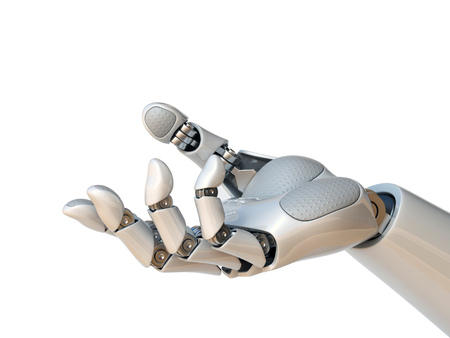 Photo pour Robot hand reaching gesture or holding object 3d rendering - image libre de droit