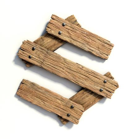 Foto de Wood font, plank font letter  S - Imagen libre de derechos