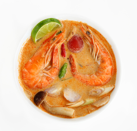 Photo for Tom Yum Goong  or Tom Yam Kung is soup food thai, shrimp soup thai is sour taste. - Royalty Free Image