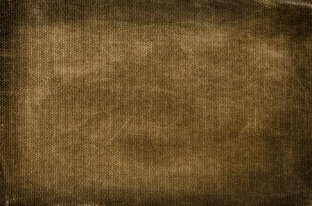 Photo pour Old, dirty and scratched brown cotton background - image libre de droit