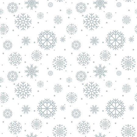 Illustration for Christmas seamless pattern. Blue background with snowflakes. - Royalty Free Image
